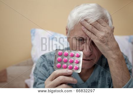 Senior With Painkillers
