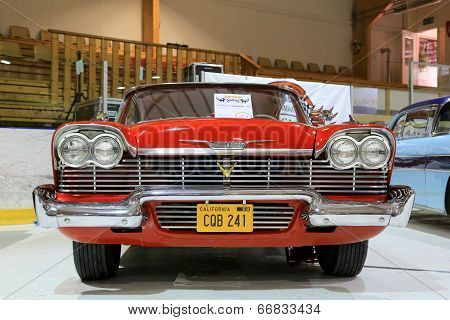 Classic Red Plymouth Belvedere 1958