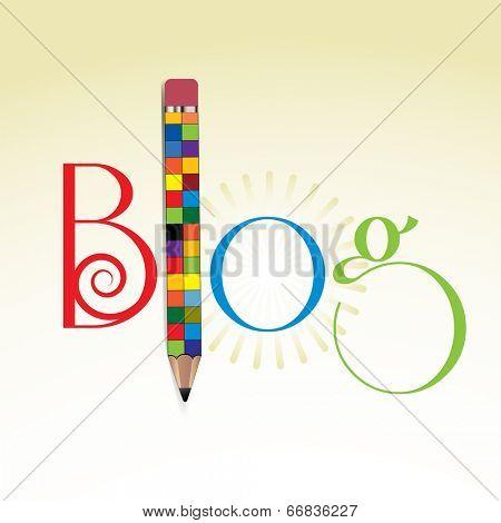 Colorful Pencil Blog concept