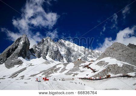 Jade Dragon Snow Mountain In Yunnan, China