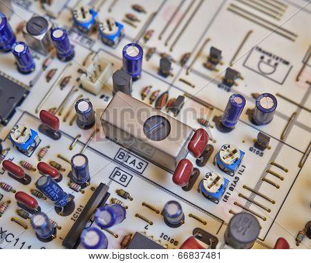 electronic circuitry closeup