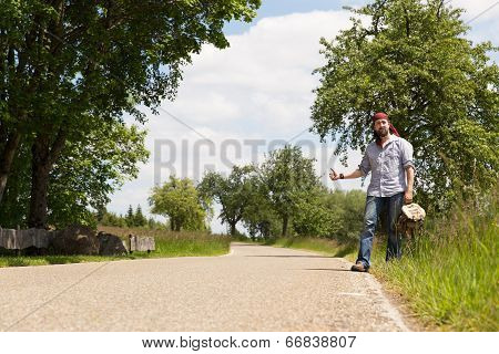 Lonely Man On A Road