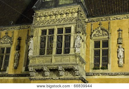 Beautiful Facade Of The City Hall, Wroclaw, Poland