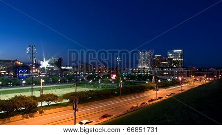 City of Baltimore at Night - Inner Harbor