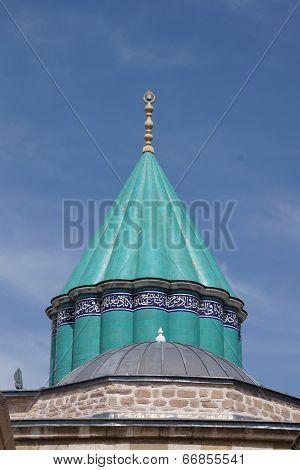 Turquoise Tiles Of  Mevlana Shrine