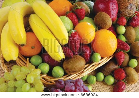 colorful fruits and vegetables were collected new basket poster
