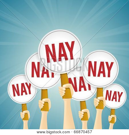 Red Nay Sign