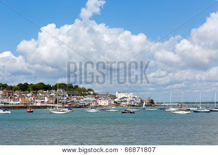 Cowes harbour Isle of Wight