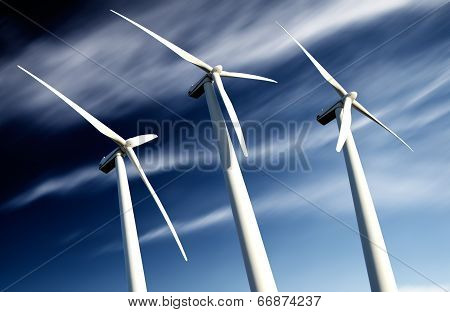 powerful and ecological energy concept