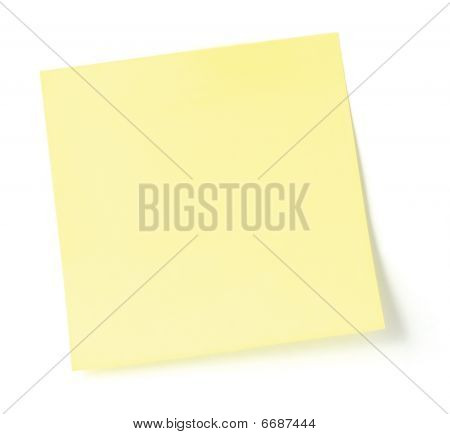 Blank Yellow To-do List sticky note