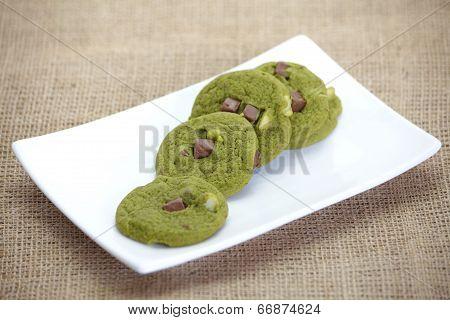 Maccha green tea cookie