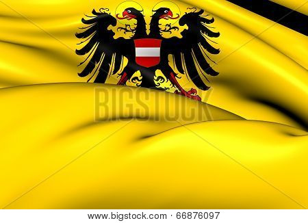 Holy Roman Empire Flag (1437-1493). Close Up. poster