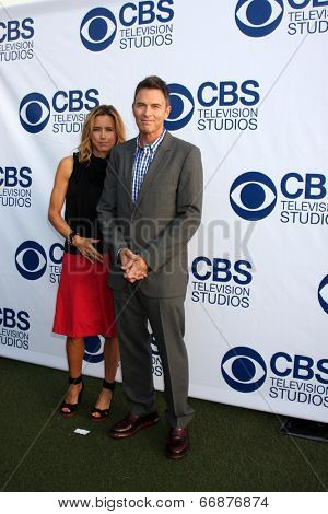 LOS ANGELES - MAY 19:  Tea Leoni, Tim Daly at the CBS Summer Soiree at the London Hotel on May 19, 2014 in West Hollywood, CA
