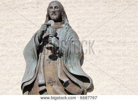 Holy Spirit statue on a church