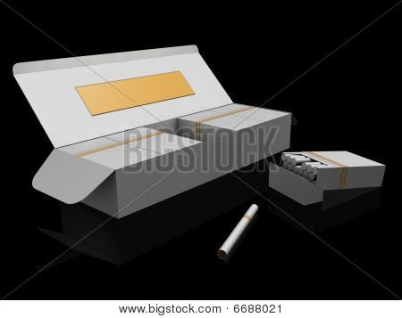 White Cigarette Boxes