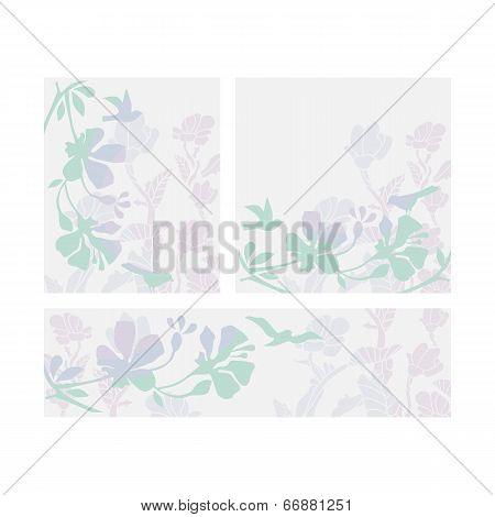 Floral Layouts Set