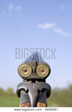 Close Up Of Shotgun.