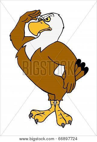 American Eagle Saluting