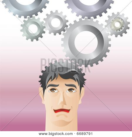 Man and gear