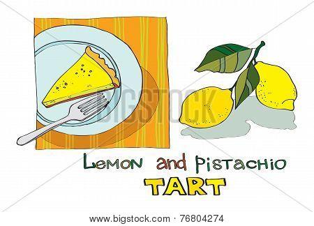 lemon pistachio tart
