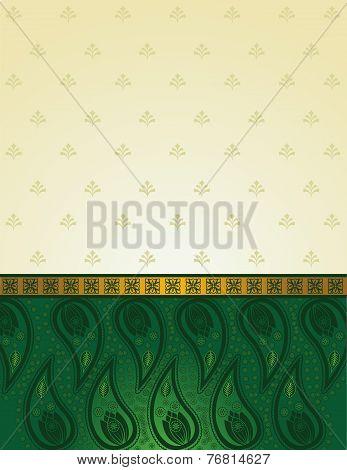 Green Indian saree background
