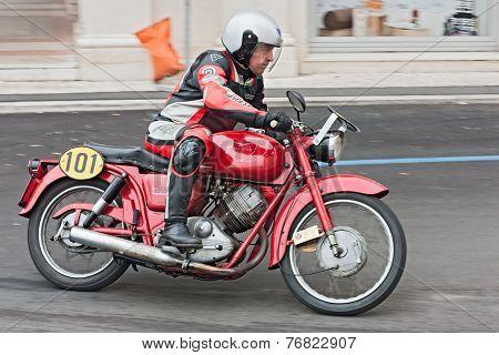 Vintage Motorcycle Moto Guzzi Lodola Gran Turismo