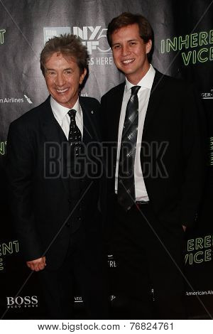 NEW YORK-OCT 4: Actor/comedian Martin Short (L) & Henry Hayter Short attend the 'Inherent Vice' World Premiere at the New York Film Festival at Alice Tully Hall on October 4, 2014 in New York City.