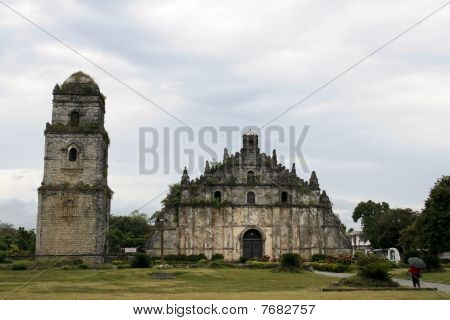 coral block spanish colonial era church in illocos the philippines poster