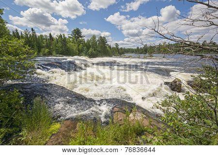 High Water On A Wilderness Cascade