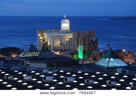 Auditorio Aflredo Kraus at dusk. Canary Island Gran Canaria Spain poster