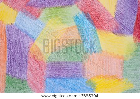 Abstract paper background drawn by colour pencils. poster