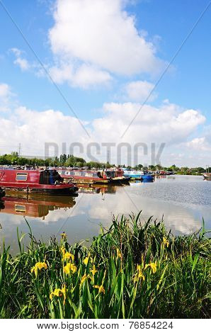 Boats in marina, Barton Under Needwood.
