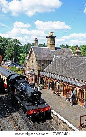 Steam loco at Arley station.