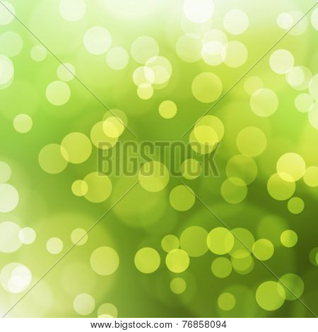 The Green Bokeh Light Is Colorful
