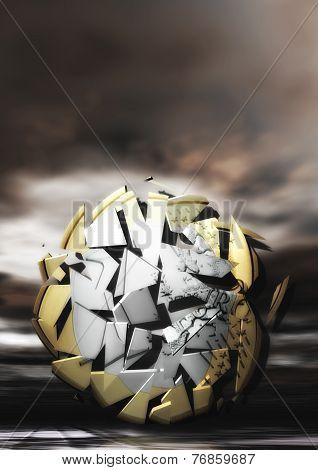 Exploding Euro Coin