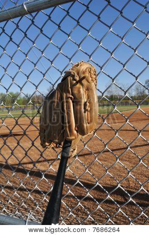 Baseball Bat And Glove