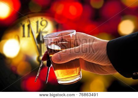 Driver Toasts The New Year
