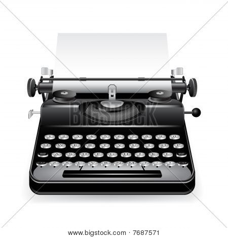 Vector old typewriter