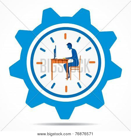 creative work on time design concept