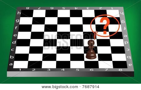 Pawn And Chess Board