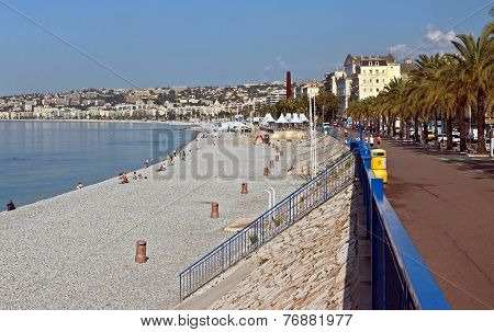 City Of Nice - City Beach And Promenade Des Anglais