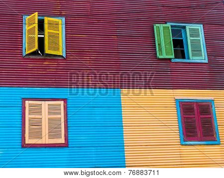Windows In La Boca Houses