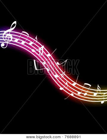 Flowing Music Notes
