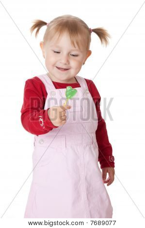 Little Girl And Lollipop