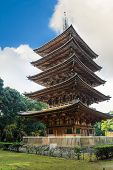Goujonoto Pagoda at Daigo-ji Temple in Kyoto Japan poster