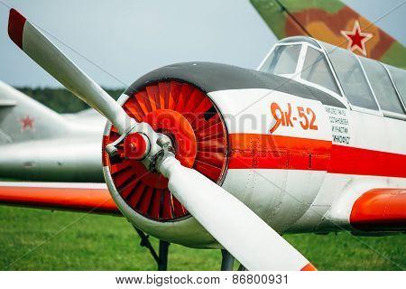 The Yakovlev Yak-52 was designed originally as an aerobatic trai