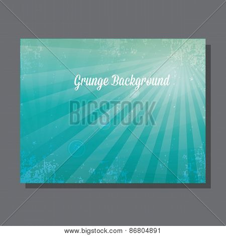Vector shiny blue sky background with ray of light