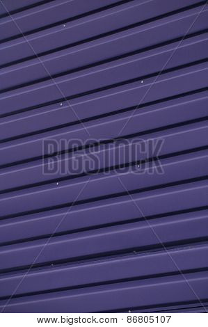Close up of Purple Corrugated Iron Full Frame