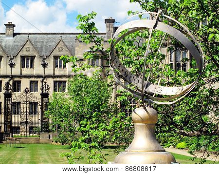 Merton College Oxford University was founded in 1260 by Walter De Merton chancellor to Henry III and could be the oldest of the Oxford Colleges in Oxford, Oxfordshire, UK poster