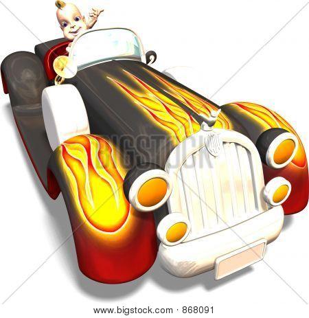 Baby In Huge Car
